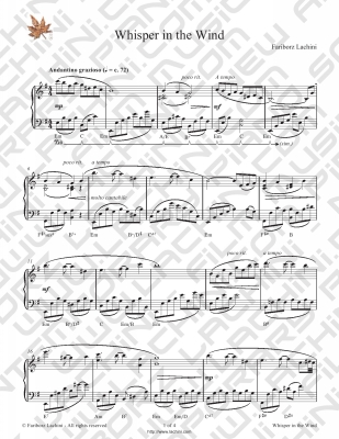 Whisper in the Wind Sheet Music