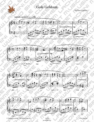 Gole Goldoon Sheet Music