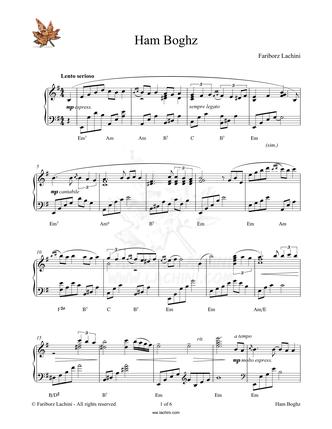 Ham Boghz Sheet Music