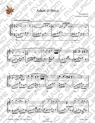 Adamo Hava Sheet Music