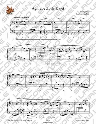 Aghrabe Zolfe Kajet 音乐页