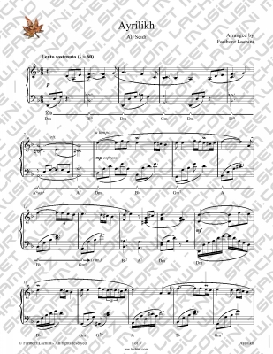 Ayrilikh Sheet Music