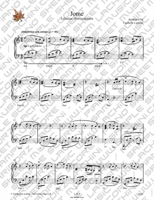 Jome Sheet Music