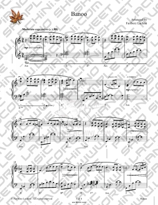 Tandis Sheet Music