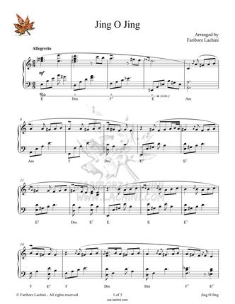 Jingo Jing Musiknoten