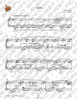 Tolou Sheet Music