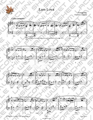 Lam Lova Sheet Music