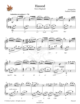 Hasood Sheet Music