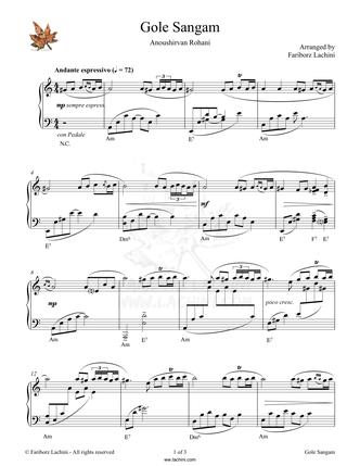 Gole Sangam Musiknoten