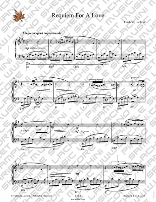 Requiem for a Love Sheet Music