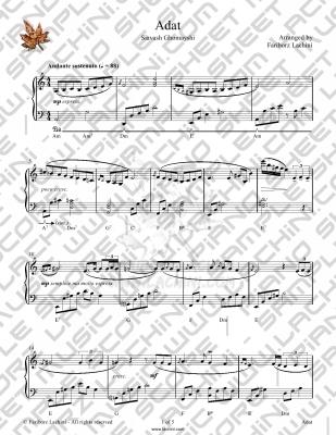 Adat Sheet Music