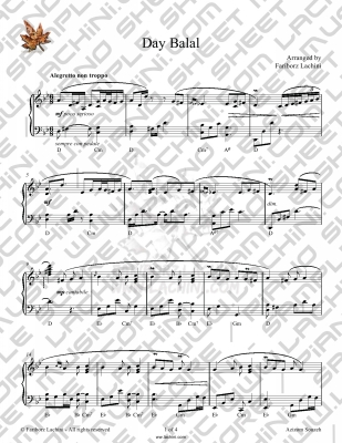 Day Balal Sheet Music