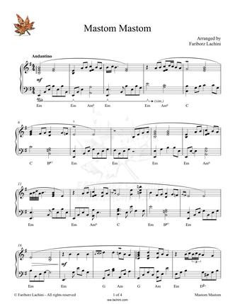 Mastom Mastom Sheet Music