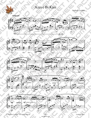 Azaye Bikasi Sheet Music