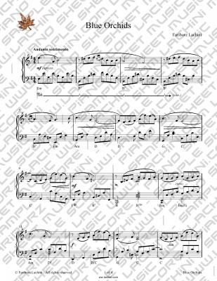 Blue Orchids Sheet Music