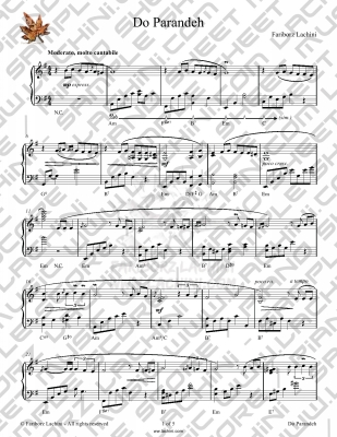 Do Parandeh Sheet Music