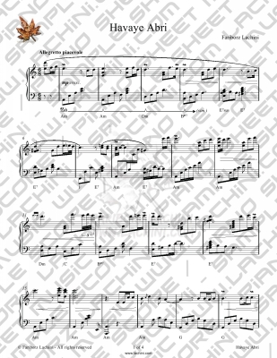 Havaye Abri Sheet Music