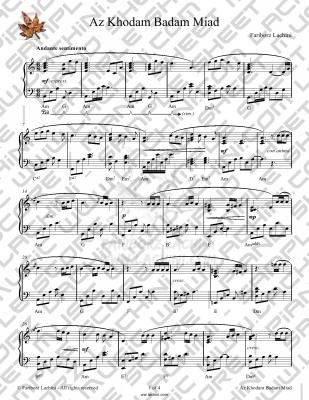Az Khodam Badam Miad Sheet Music