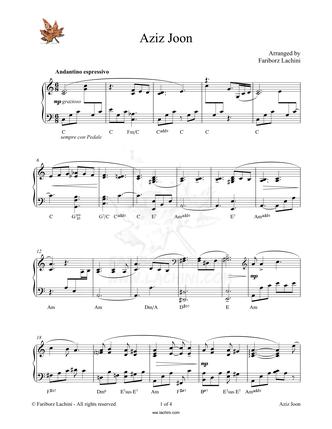 Aziz Joon Musiknoten
