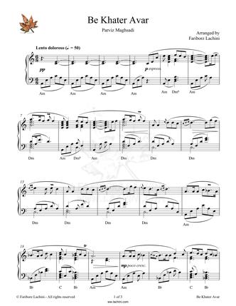 Ghesseye Vafa Musiknoten