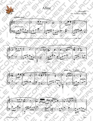 Aline Sheet Music