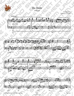 BaHam Sheet Music