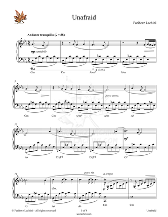 Unafraid Sheet Music