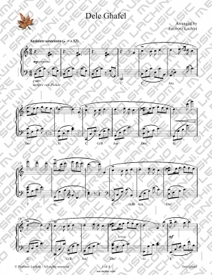 Dele Ghafel Sheet Music