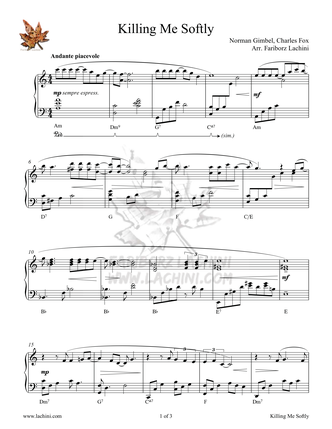Killing Me Softly Sheet Music