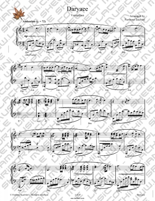 Daryayee Sheet Music