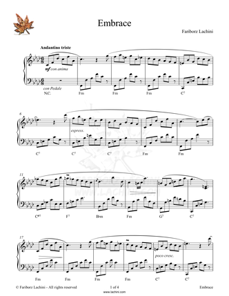 Embrace Sheet Music