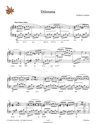 Dilemma Sheet Music