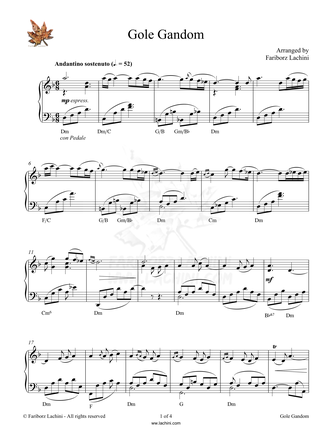 Gole Gandom Sheet Music
