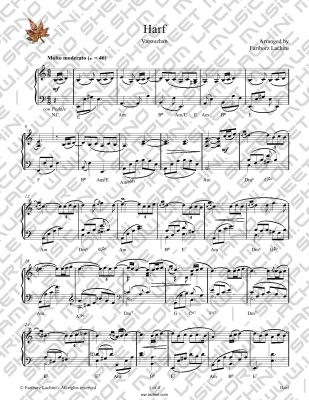 Harf Sheet Music