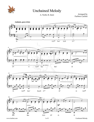 Unchained Melody - Ghost Sheet Music