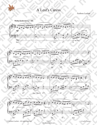 A Leafs Caress Sheet Music