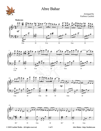 Abre Bahar Sheet Music