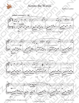 Across the Waves Sheet Music