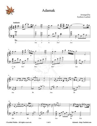 Adamak Sheet Music