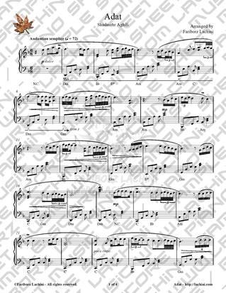 Adat 4 Sheet Music