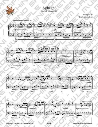 Aghaghi Sheet Music