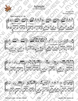 Aghaghi 2 Sheet Music