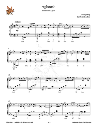 Aghoosh Sheet Music