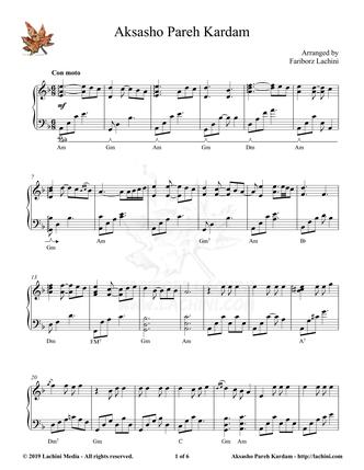 Aksasho Pareh Kardam Sheet Music