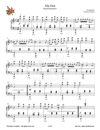 Ala Goz Musiknoten