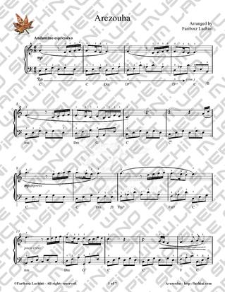 Arezouha Sheet Music