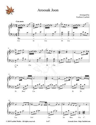 Aroosak Joon Sheet Music