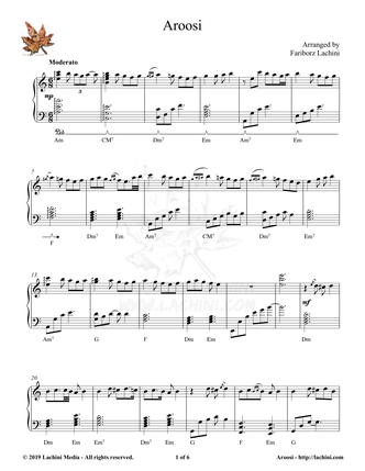 Aroosi Sheet Music