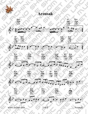 Arousak Sheet Music
