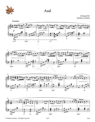Asal Sheet Music